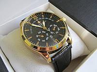 Мужские наручные часы Vacheron Constantin (Вашеро́н Константин), золото с чёрным циферблатом