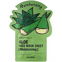 Tony Moly I'm Real Face Mask Sheet Aloe Тканевая маска с экстрактом Алоэ 21g