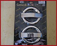 Хромированные накладки на авто для ручек Fiat Doblo (Omsa, 4 шт)