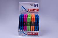 Ручки кулькові PIANO №PT-251-L,для лівої руки,сині,масло,0.5 mm,50 шт/упаковка, фото 1