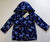 Детская куртка-парка весна-осень на девочку с принтом бабочки