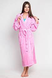Халат махровый Bembi розовый L/XL хлопок 70% бамбук 30% 500 г/м2