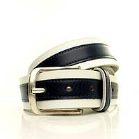Ремень на джинсы, толстая итальянская кожа. Два цвета. Коробка  G4052W3-B белый
