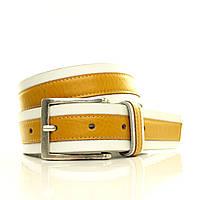 Ремень на джинсы, толстая итальянская кожа. Два цвета. Коробка  G4050W17-B белый