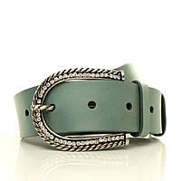 (Emilia) Матовый кожаный ремень. Пряжка Италия.  Ремень в коробке  G4050W21-B берюзовый