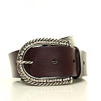 (Emilia) Матовый кожаный ремень. Пряжка Италия.  Ремень в коробке  G4050W22-B бордовый