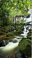 "Картина-часы (25х45 см) ""Водопад"""