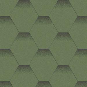 Битумная черепица Акваизол Эталон Мозаика Альпийский Луг Зеленая