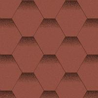 Битумная черепица Акваизол Мозаика Красный Мак
