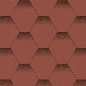 Битумная черепица Акваизол Эталон Мозаика Красный Мак