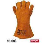 Перчатки спилковые Weldoger с крагой, кевларовая нить