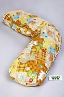 """Подушка для сна """"Бумеранг"""" Цветная. Белая. С наволочкой."""