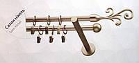 Карниз двойной ø 16+16 мм, 160 см, наконечник Фала