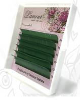 Ресницы цветные зеленые (6 линий)
