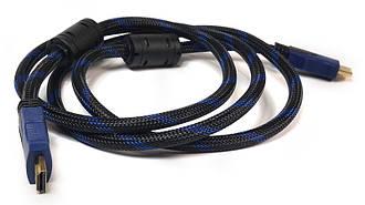 Видео кабель PowerPlant HDMI - HDMI, 1.5м, позолоченные коннекторы, 1.4V, Nylon