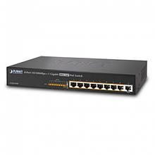 Неуправляемый гигабитный коммутатор PoE Planet FGSD-910P (8-Port 10/100Mbps 802.3af PoE+1-Port 10/10