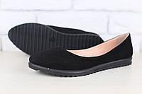 Замшевые женские туфли-балетки