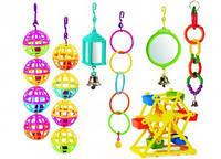 Пластмасовые игрушки для попугая