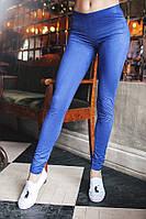 Лосины Ткань стрейчевый турецкий замш( очень классно тянется) чёрный, электрик, графит, темно-синий дмон№1067