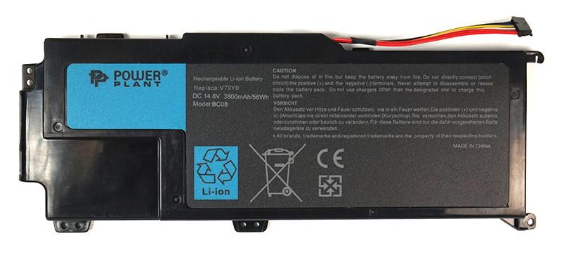 Аккумулятор PowerPlant для ноутбуков DELL XPS 14z (V79Y0) 14.8V 3800mA