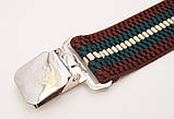 Широкие мужские подтяжки Paolo Udini коричнево-зеленые, фото 3