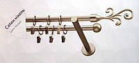 Карниз двойной ø 16+16 мм, 240 см, наконечник Фала