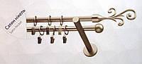 Карниз двойной ø 16+16 мм, 300 см, наконечник Фала