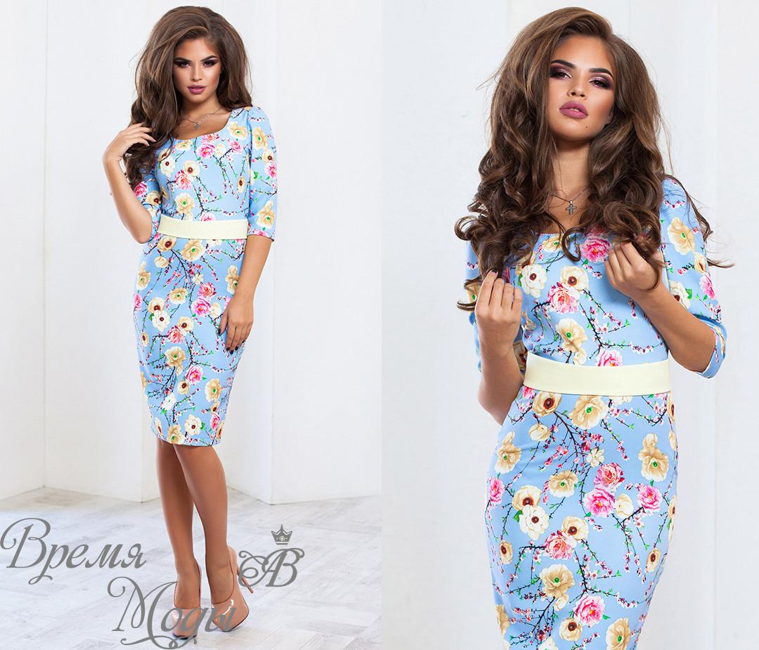 065cc253884 Нежное голубое платье