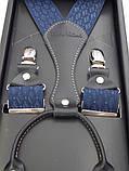 Мужские синие подтяжки с узором Paolo Udini , фото 4