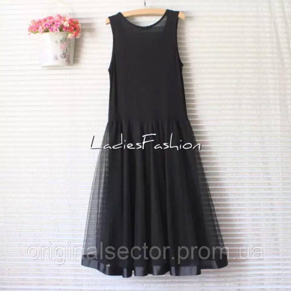 Платье майка с юбкой фото