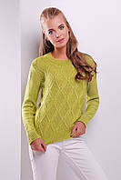 Модный вязаный свитер ярких тонов