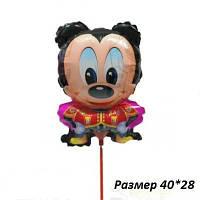 Шарик из фольги на палочке Микки Маус 38 х 26 см