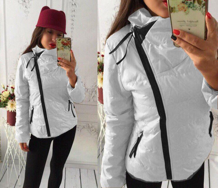 6d7c583f776 Куртка женская на синтепоне Ариелла белая