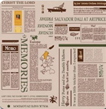 Ткань Модерн Газета Беж