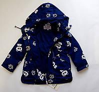Детская куртка-парка демисезонная на девочку с принтом.