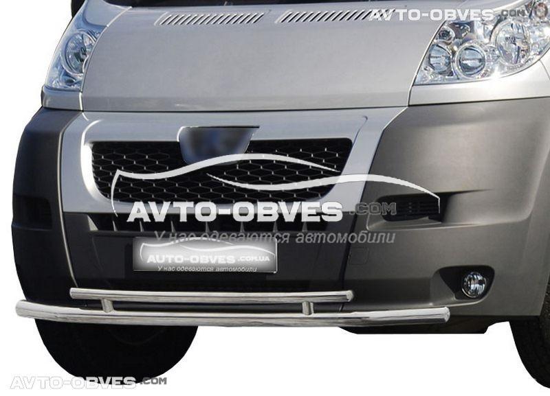Подвійний захист переднього бампера Peugeot Boxer 2006-2014