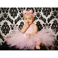 Юбка пачка для новорожденной девочки розовая