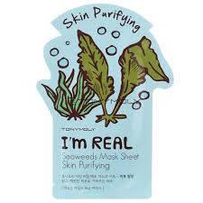 Тканевая очищающая маска с экстрактом морских водорослей TONY MOLY I'm Real Seaweeds Mask Sheet , фото 2