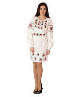 Плаття вишите жіноче Біле 40-52 рр