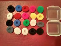 Поролоновые амбушюры накладки насадки для наушников Apple, Sennheiser MX, Yuin, VE Monk, TY Hi-Z