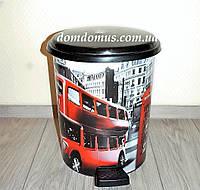 "Ведро с педалью ""London"" 24 л Elif Plastik, Турция"