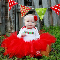 Юбка пачка для новорожденной девочки красная