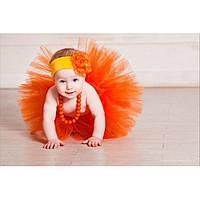 Юбка пачка для новорожденной девочки оранжевая