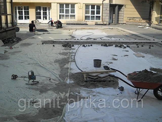 Укладка брусчатки гранитной Киев