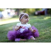 Юбка пачка для новорожденной девочки фиолетовая