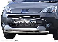 Двойная защита переднего бампера Peugeot Partner Tepee 2008 - 2015
