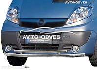 Двойная защита переднего бампера Renault Trafic 2001 - 2014