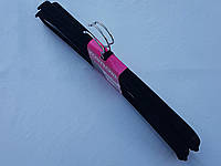 Плечики вешалки тремпеля флокированные (бархатные, велюровые) черного цвета, длина 45 см, в упаковке 3 штуки