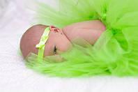 Юбка пачка для новорожденной девочки салатовая