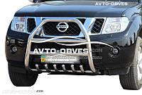 Защита переднего бампера для Nissan Pathfinder 2005-2014